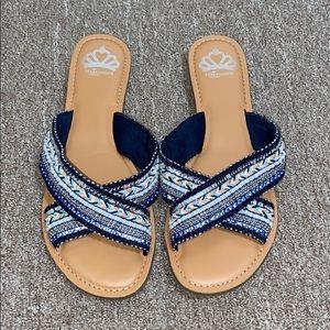 Fergalicious Starlit Navy Sandals